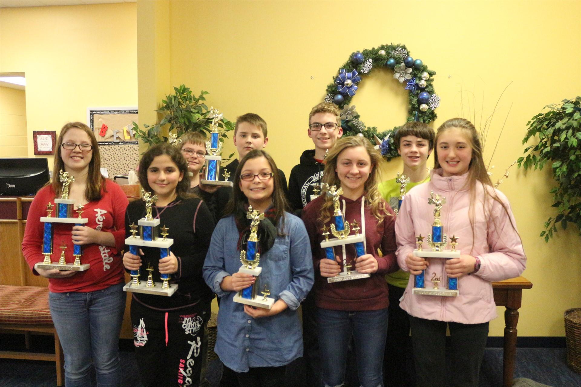 Middle School Winners