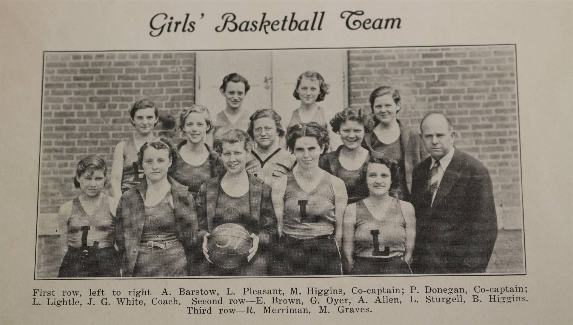 1937 Girls Basketball