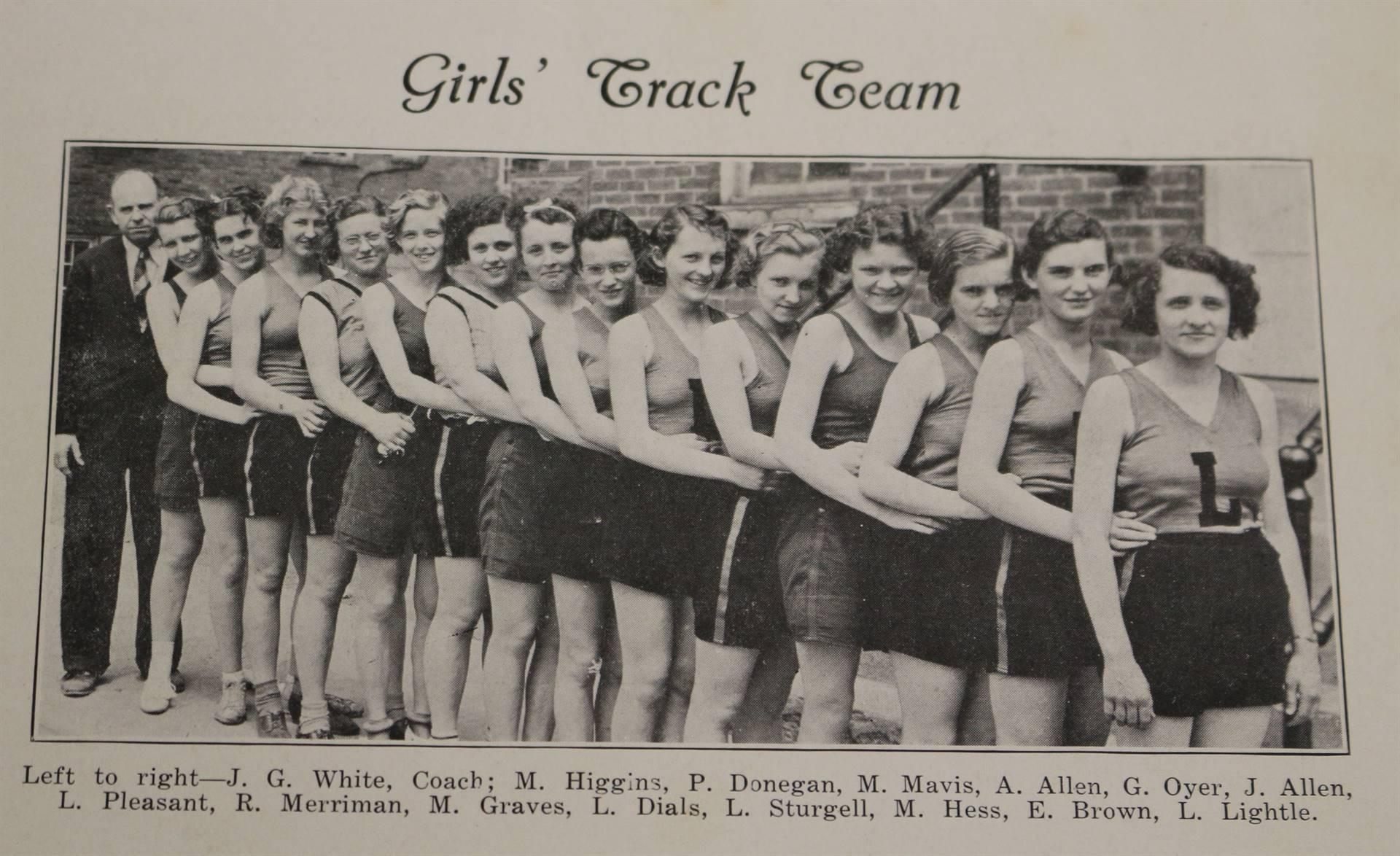 1937 Girls Track