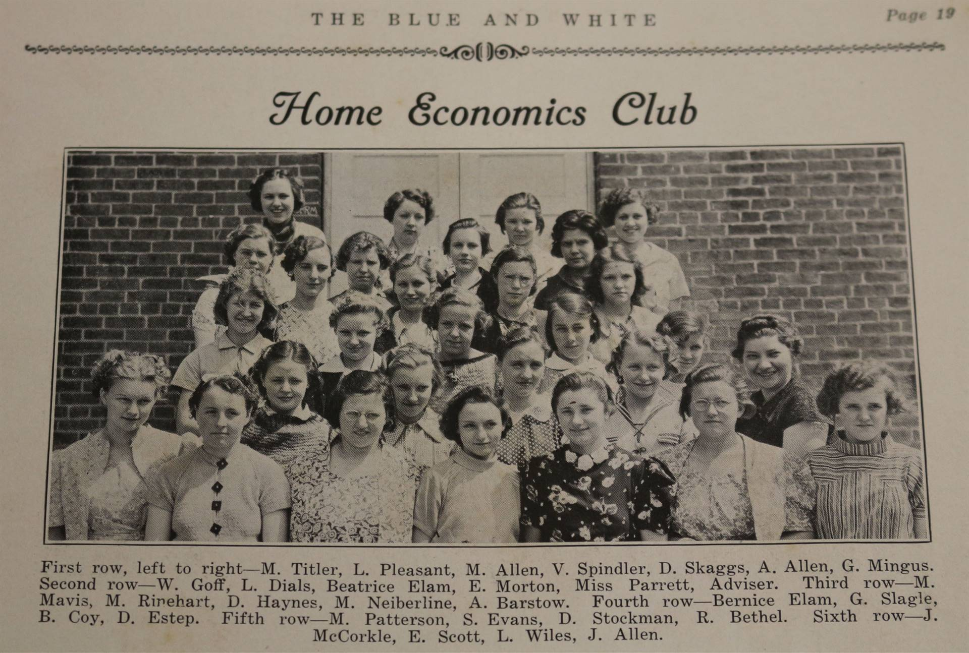 1937 Home Economics