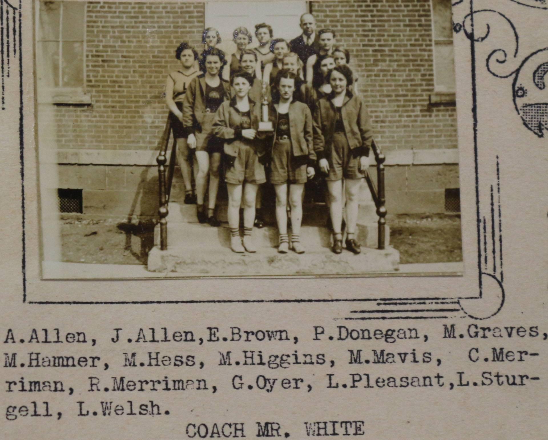 1938 Girl's Track