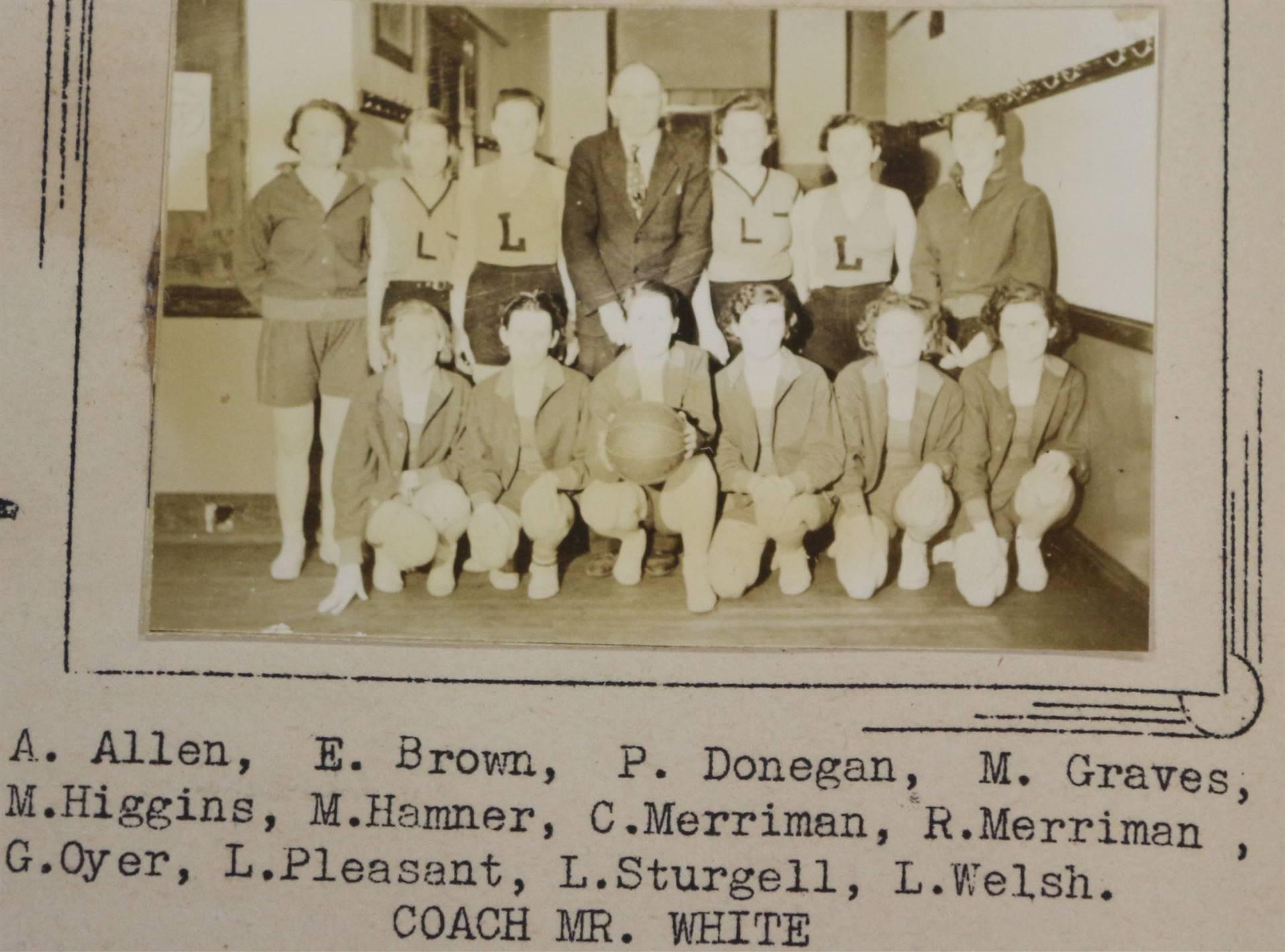 1938 Girl's Basketball