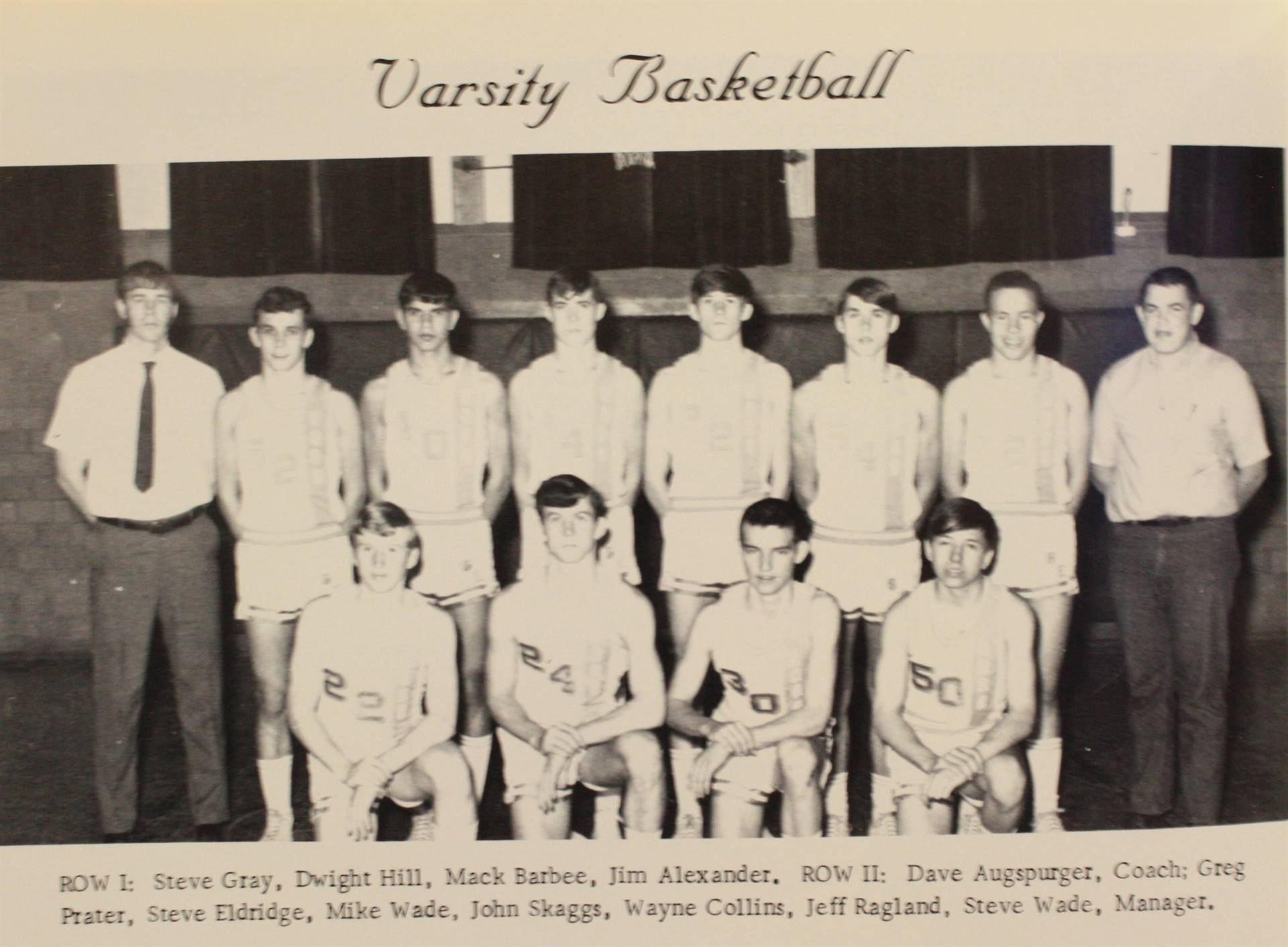 1970 Varisty Basketball