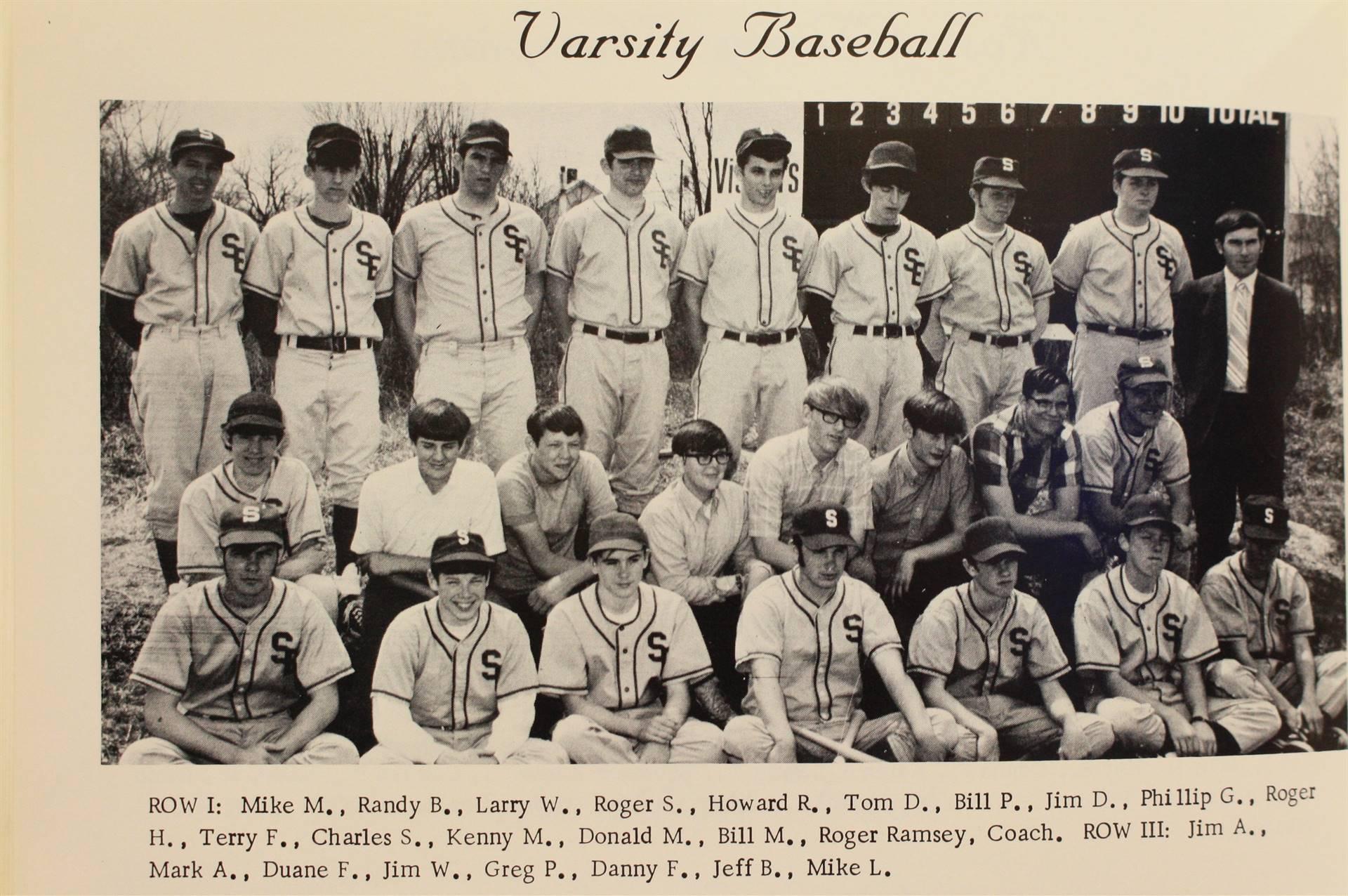 1970 Varsity Baseball