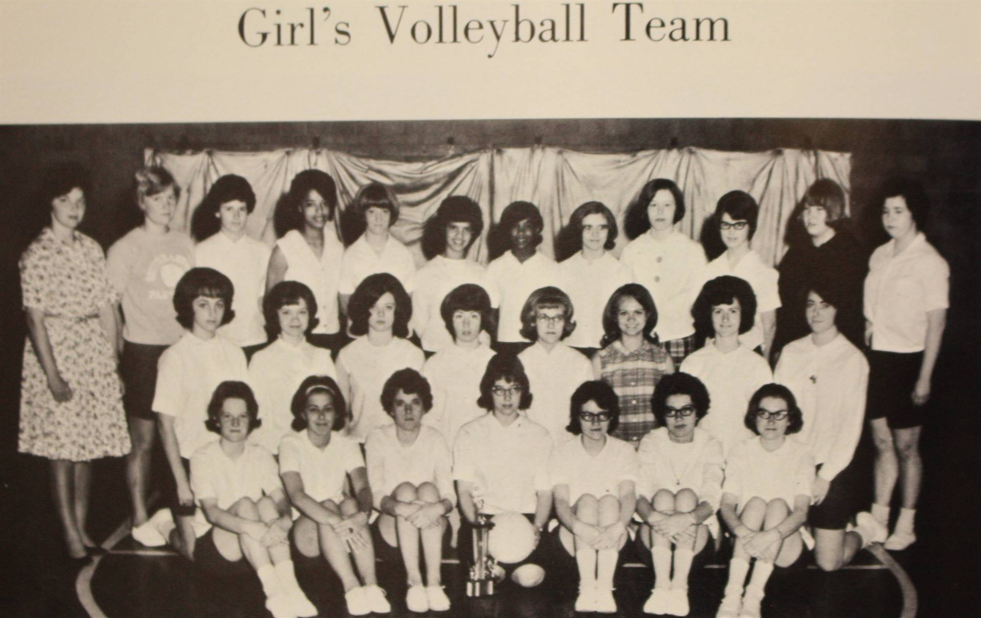 1966 Girl's Volleyball Team