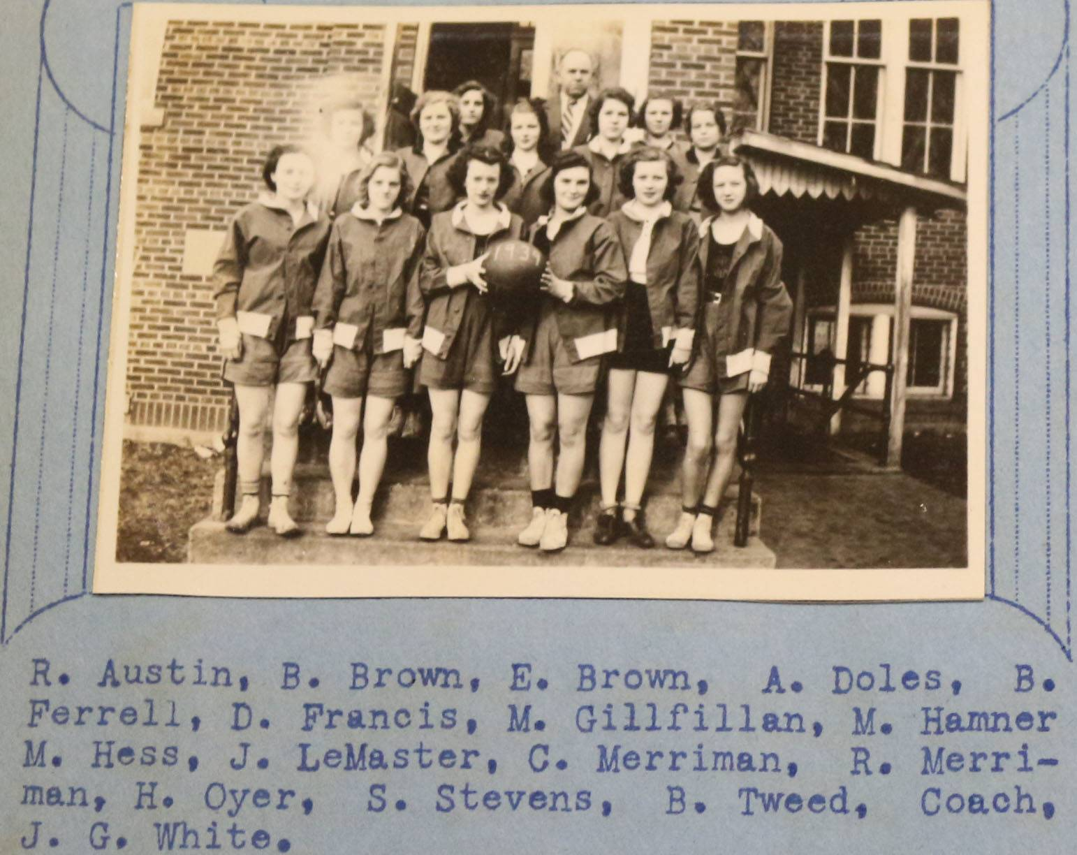 1939 Girl's Basketball
