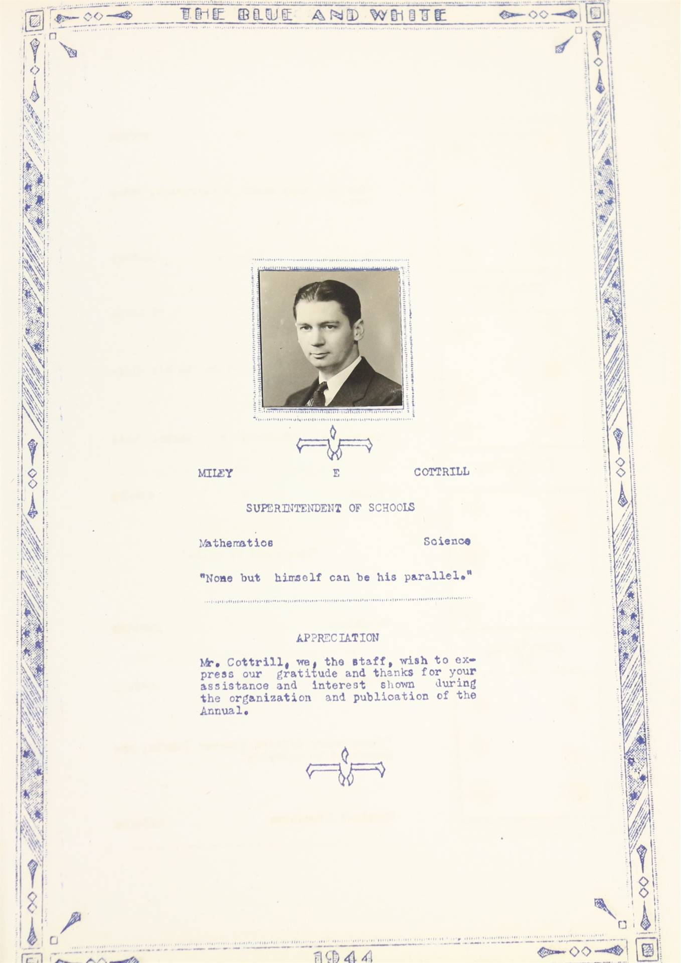 1944 superintendent