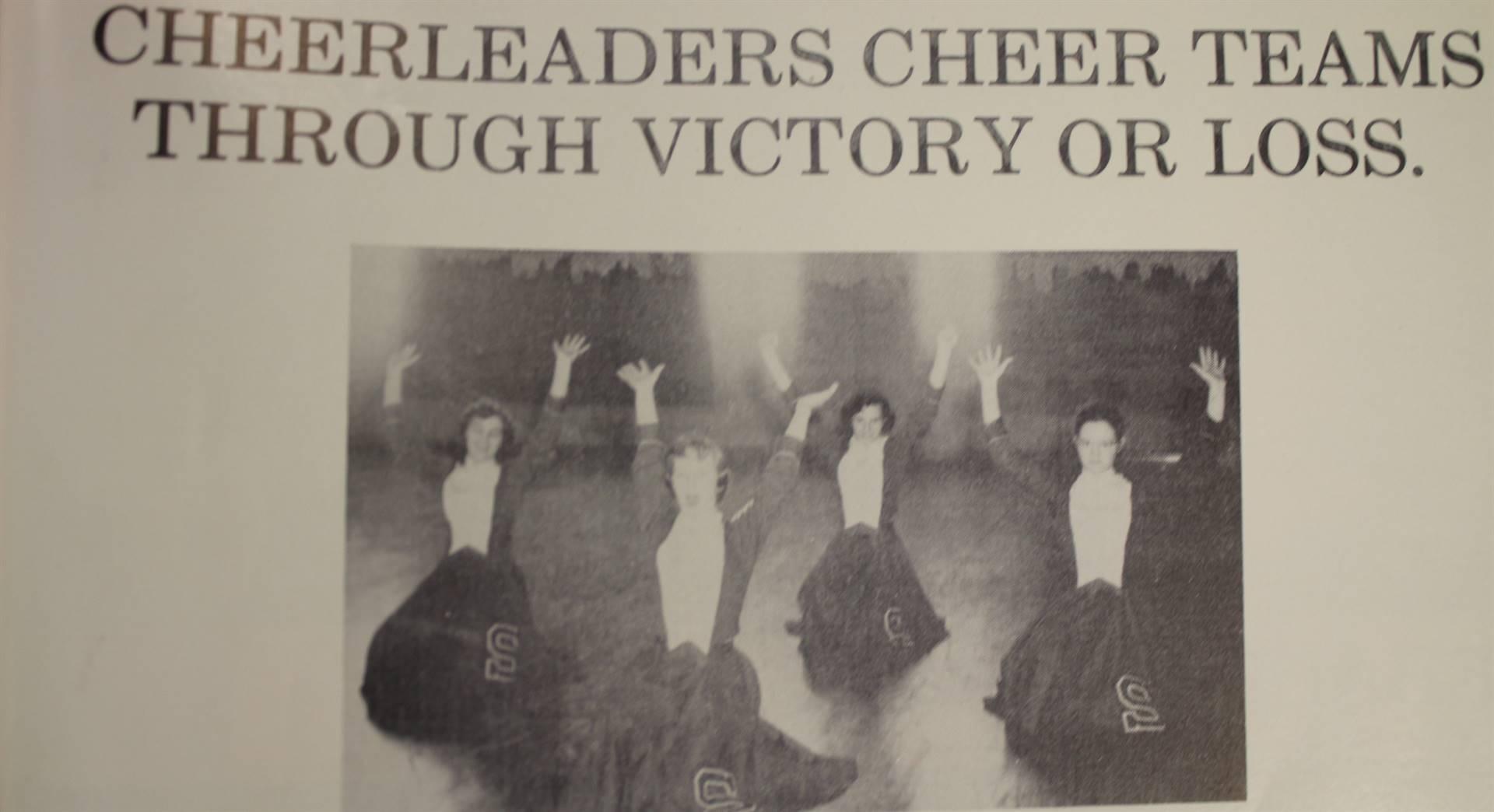 1954 Cheerleaders
