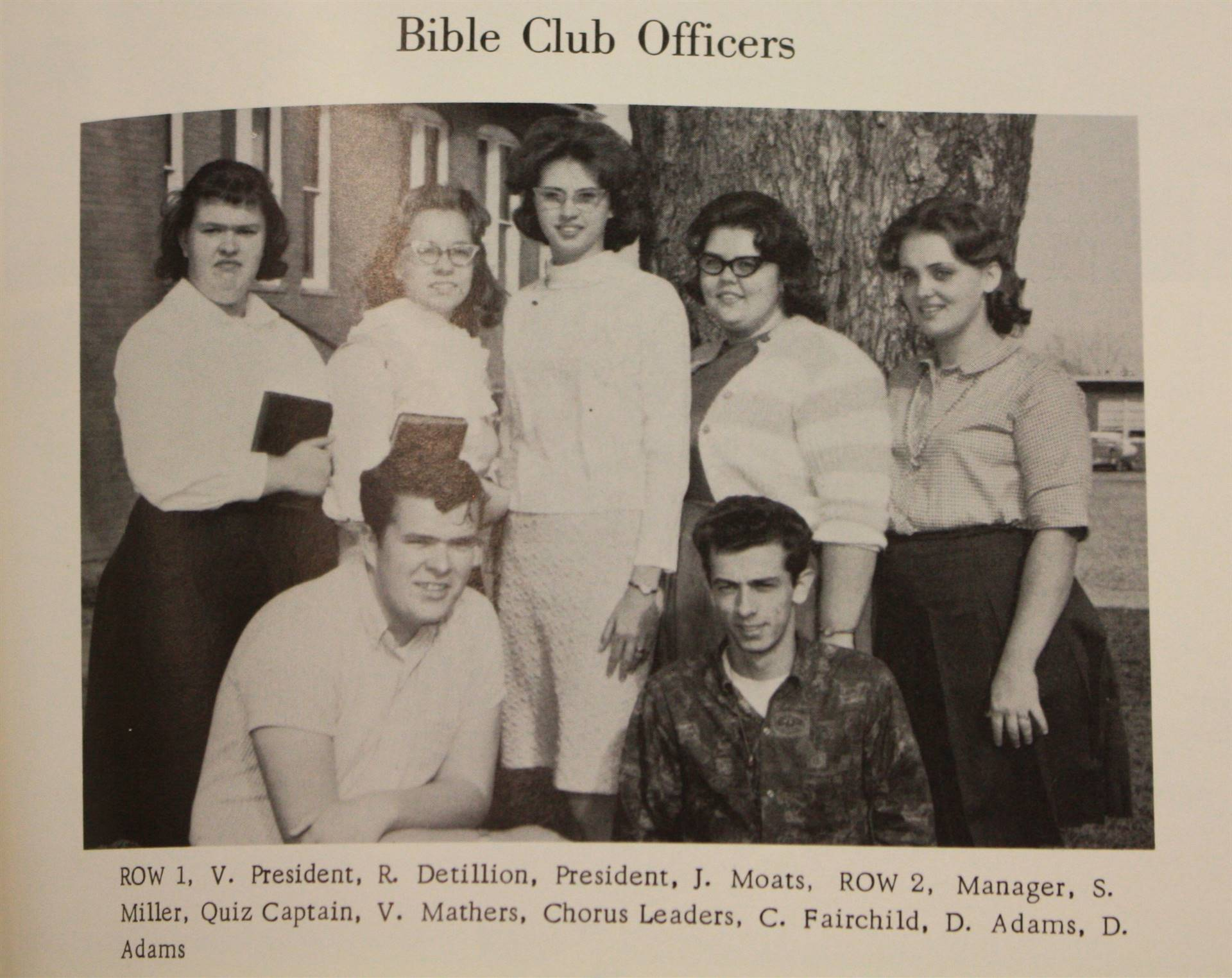 1965 bible club officers