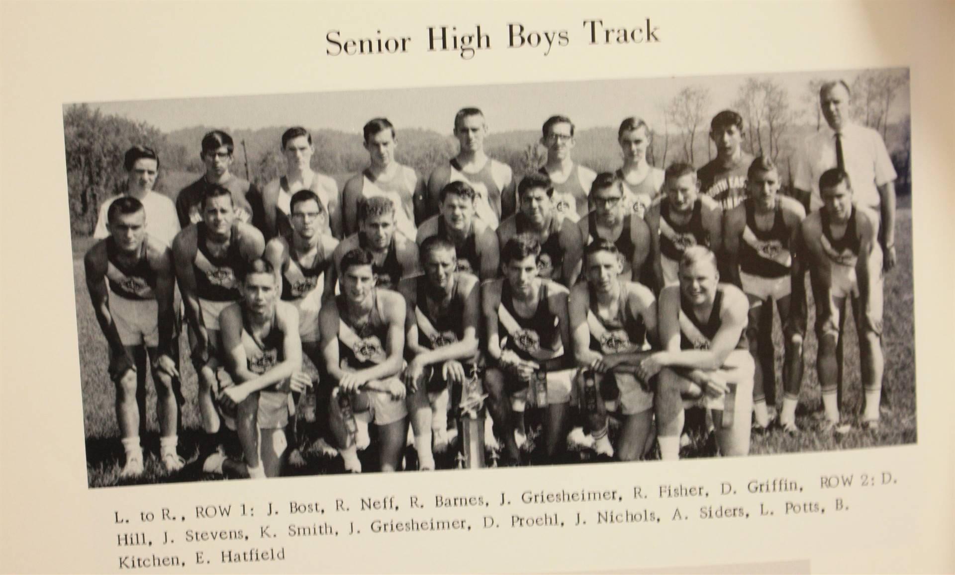 1965 senior high boys track