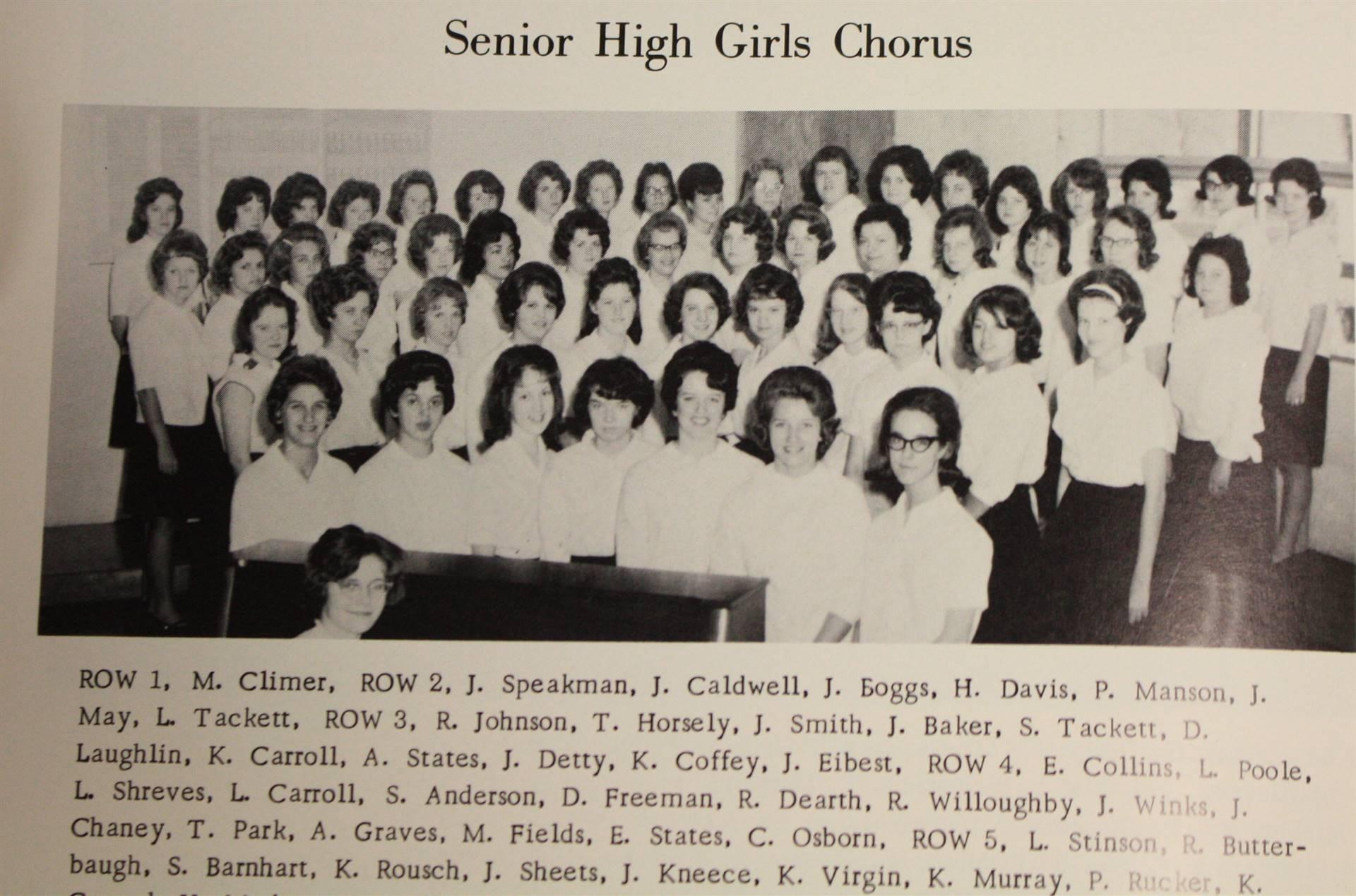 1965 senior high girls chorus