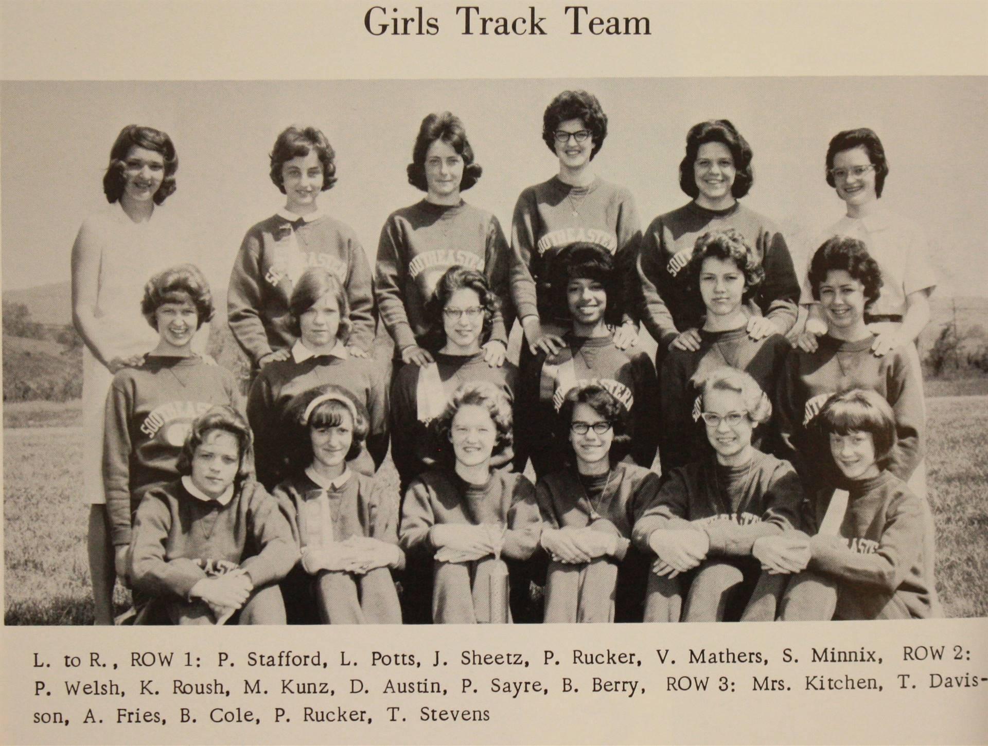 1965 girls track team