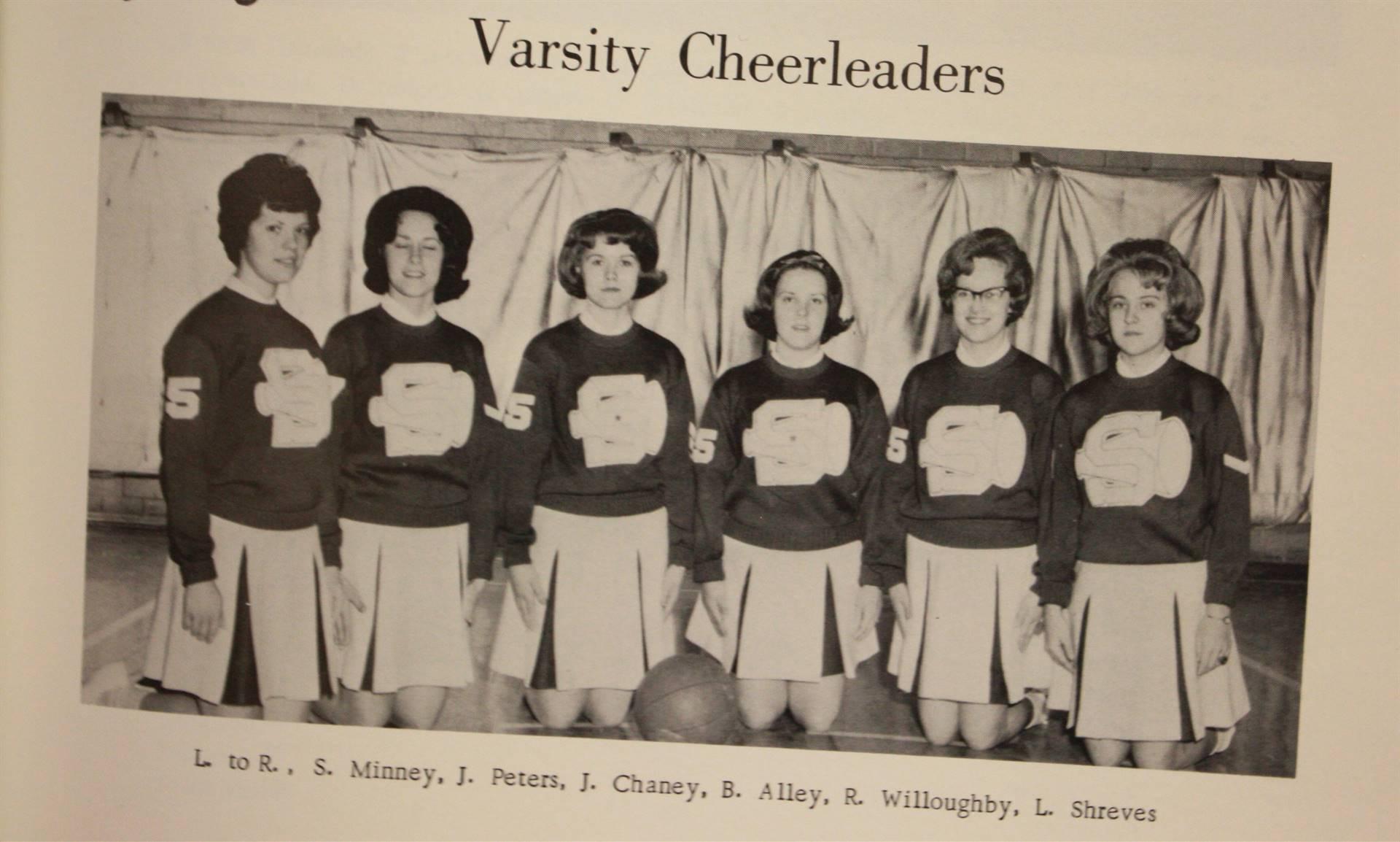 1965 varsity cheerleaders