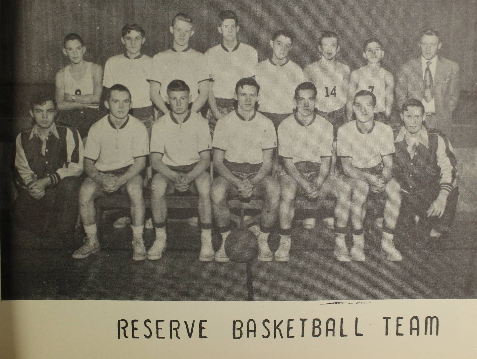 1953 reserve basketball team