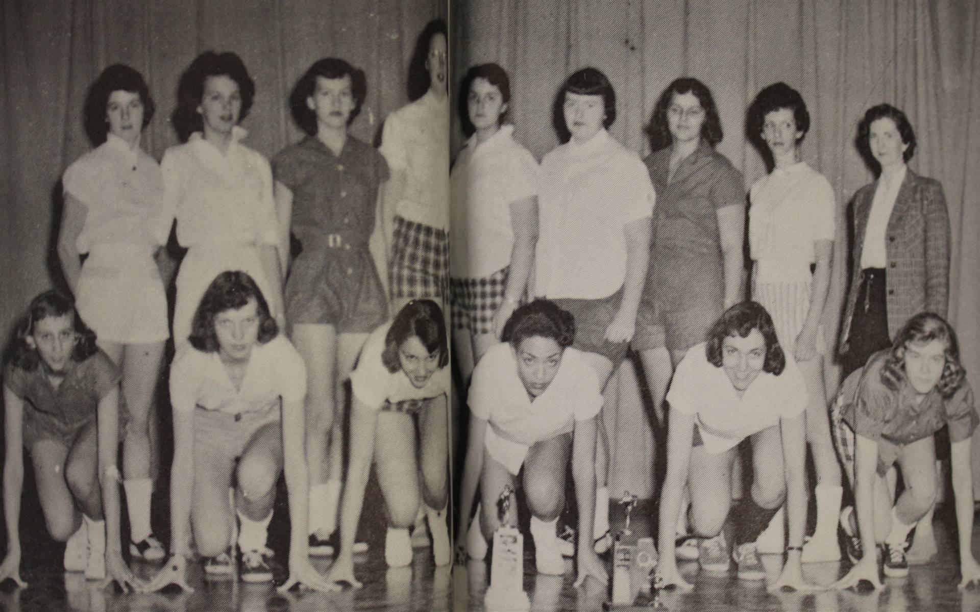 1958 Girls track