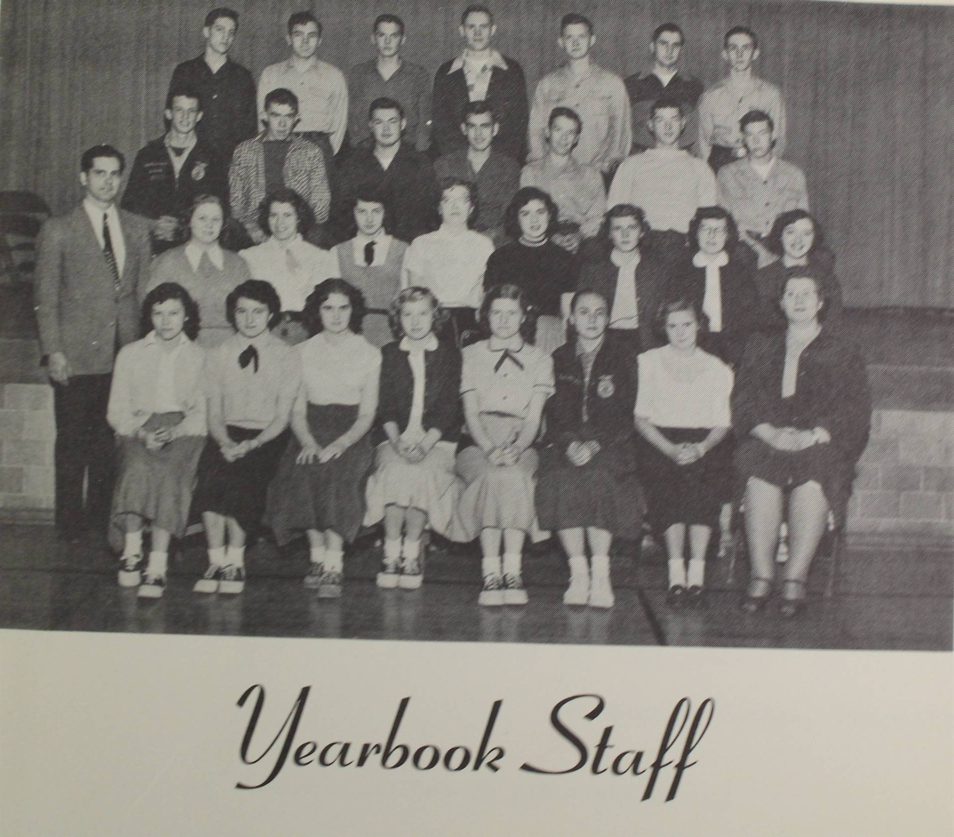 1953 yearbook staff