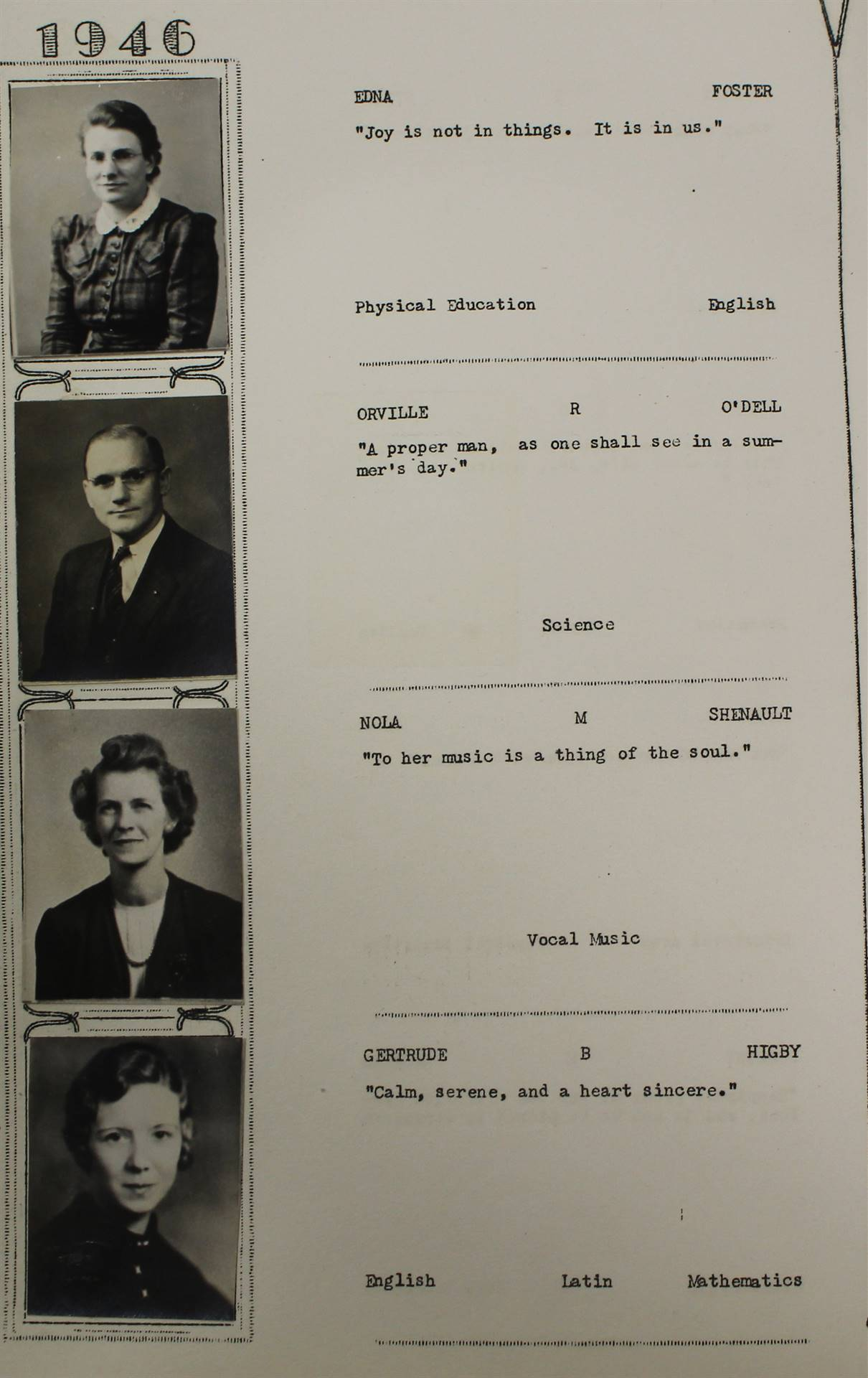 1946 staff