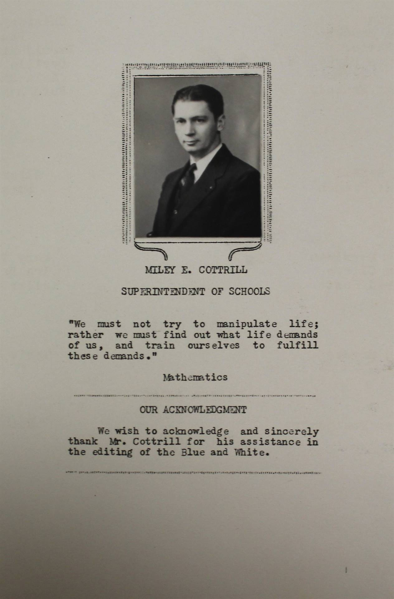 1946 Superintendent