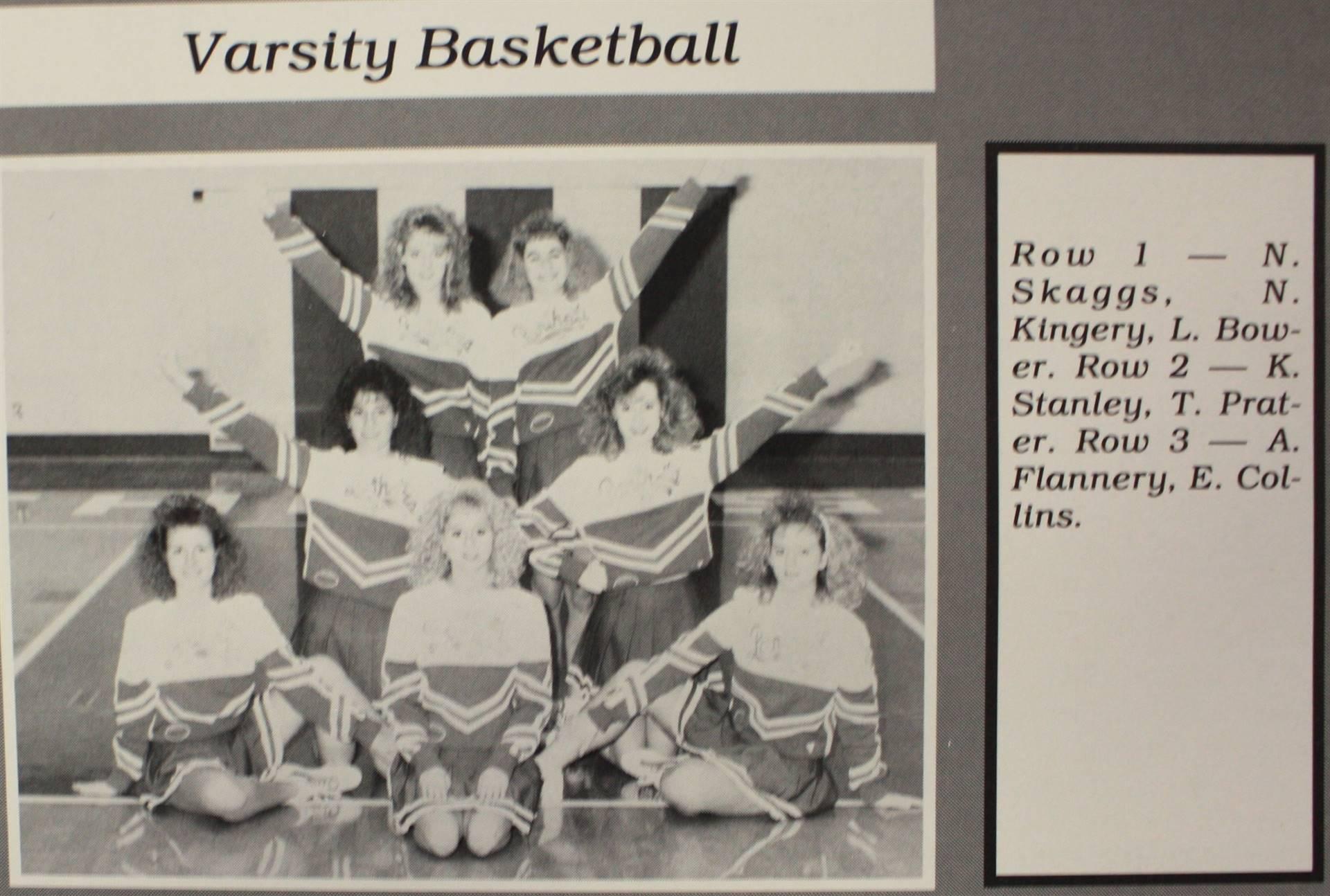 1991 Varsity Basketball Cheerleaders