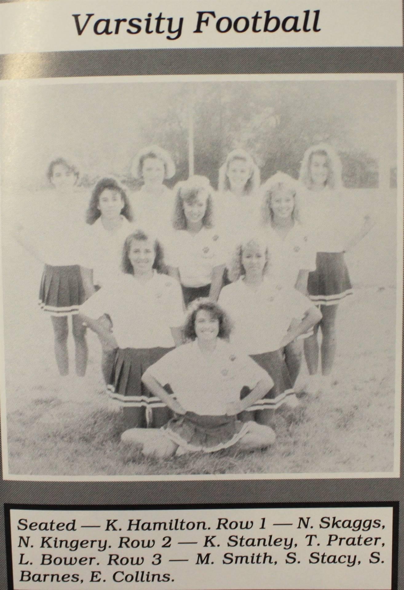 1990 Varsity Football Cheerleaders