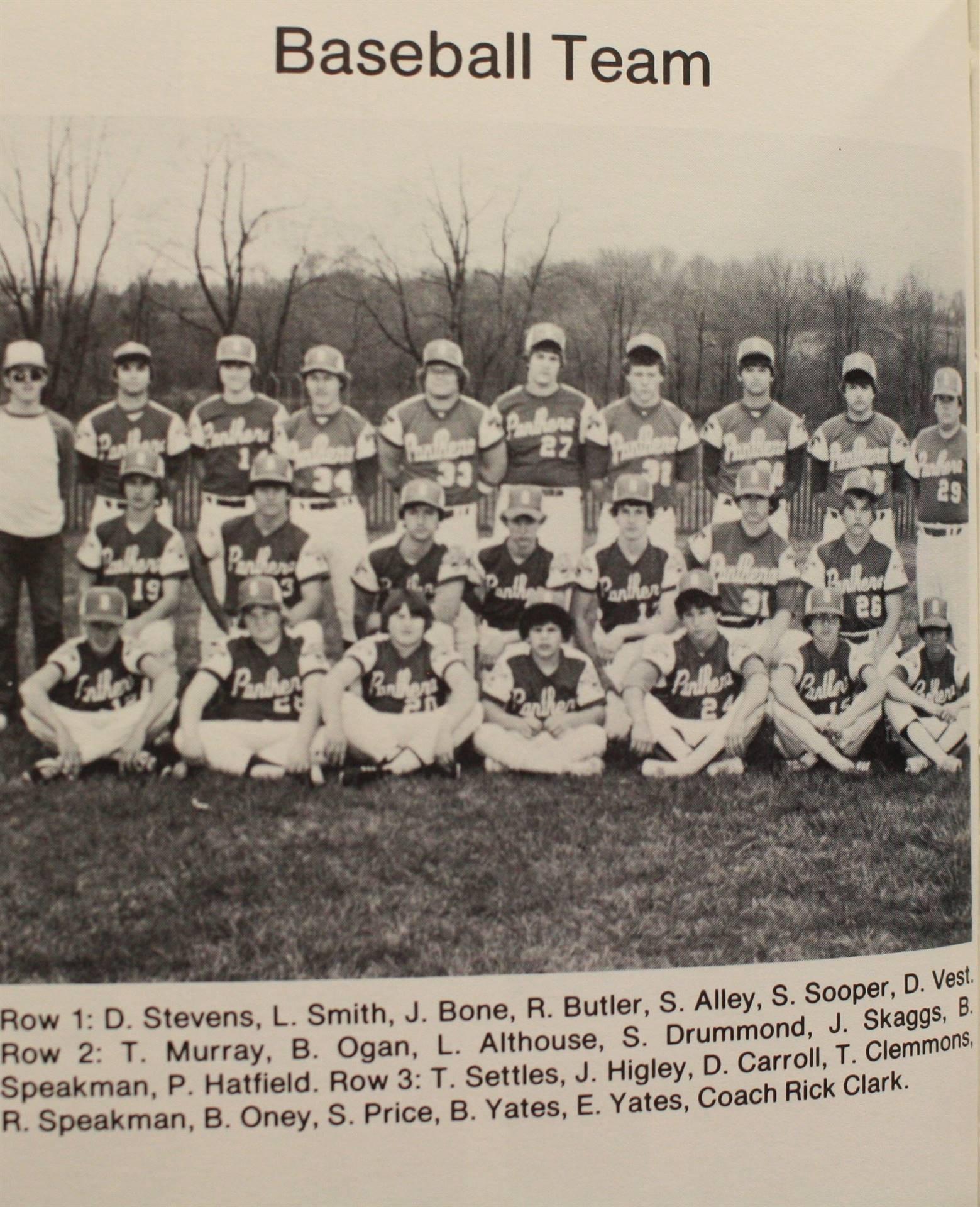 1982 Baseball Team