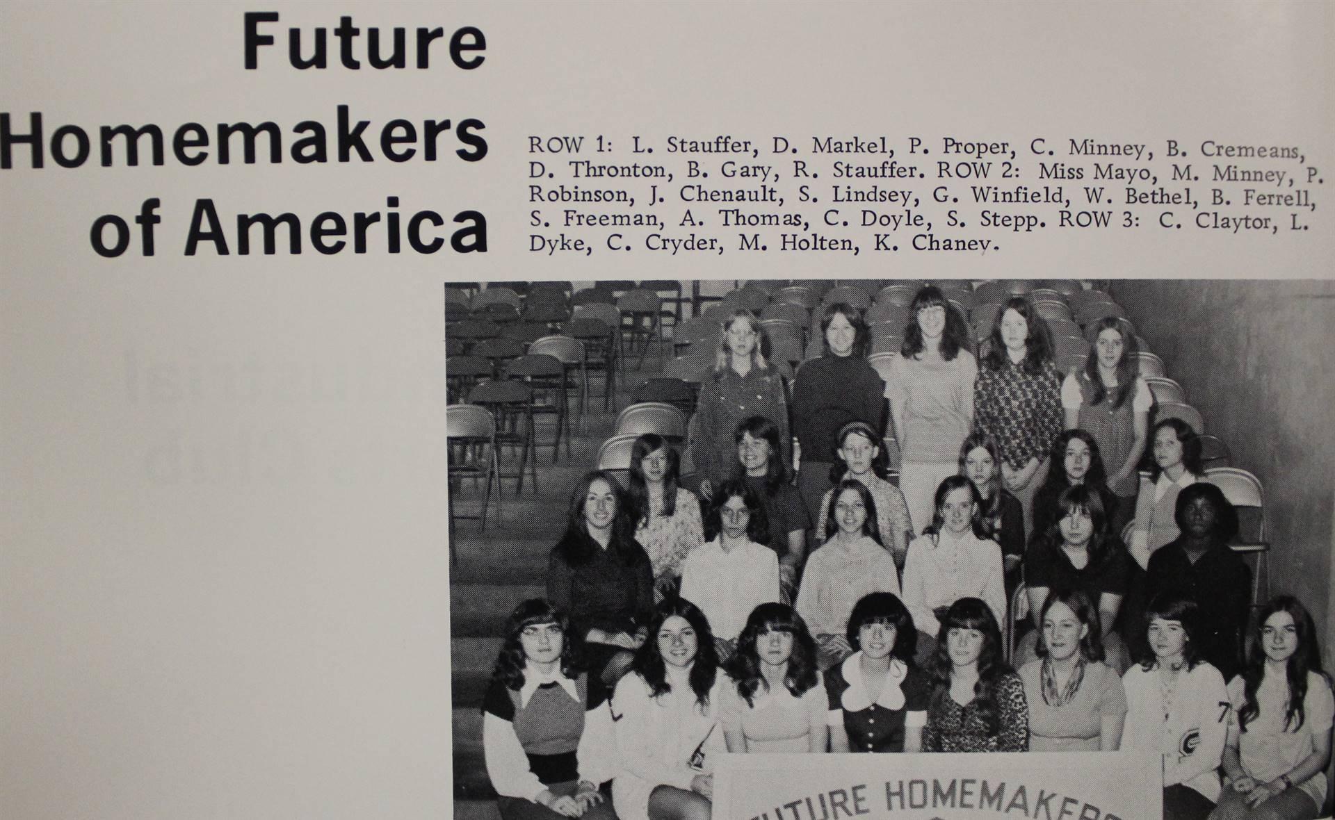 1973 Future Homemakers of America