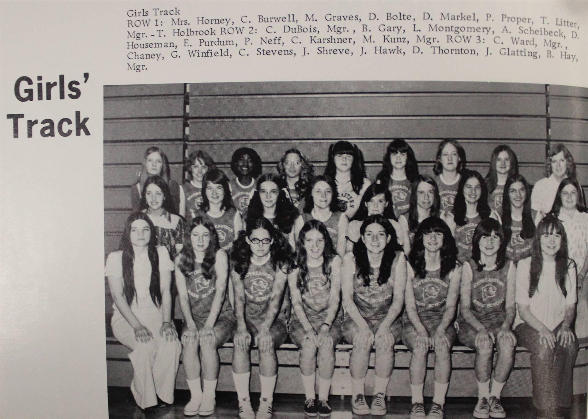 1973 Girls' Track