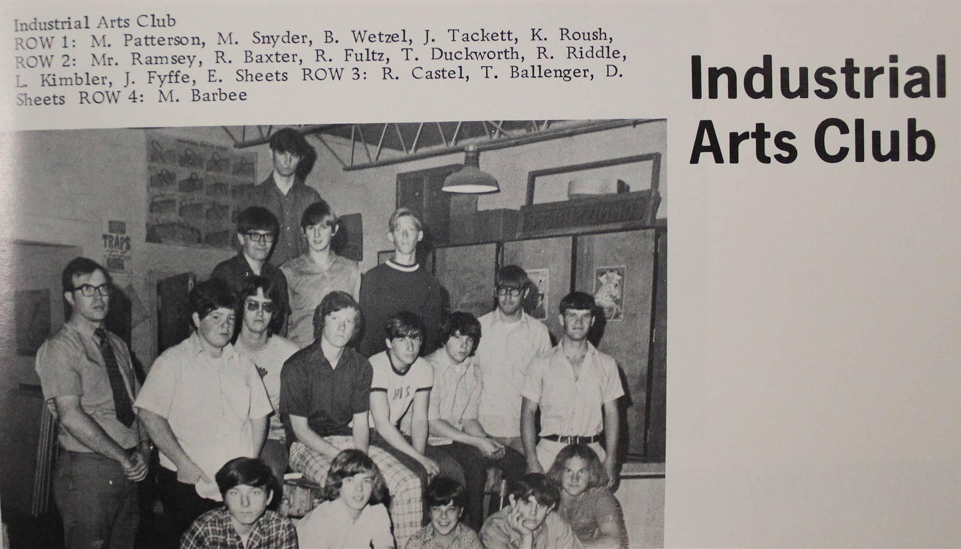 1973 Industrial Arts Club