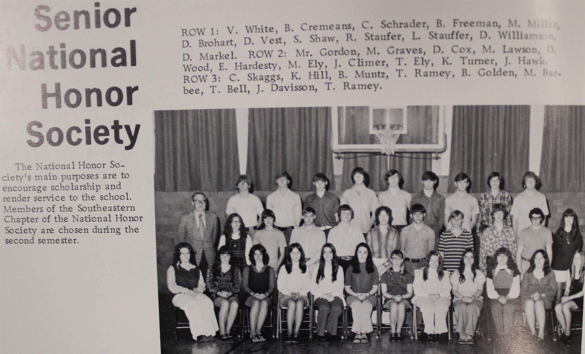 1973 Senior National Honor Society