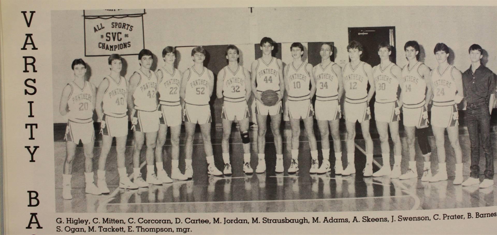 1987 Varsity Basketball