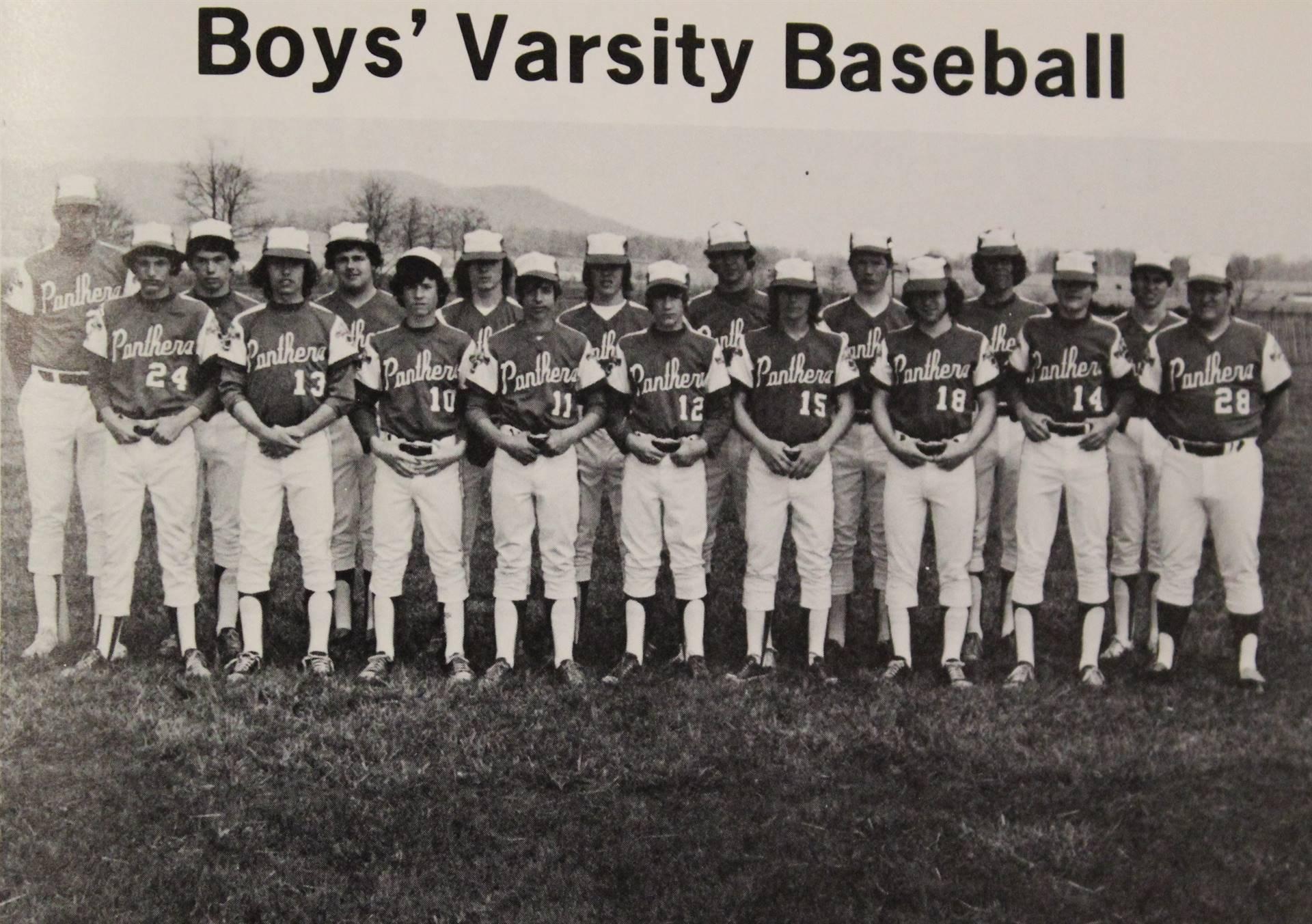 1974 Varsity Baseball