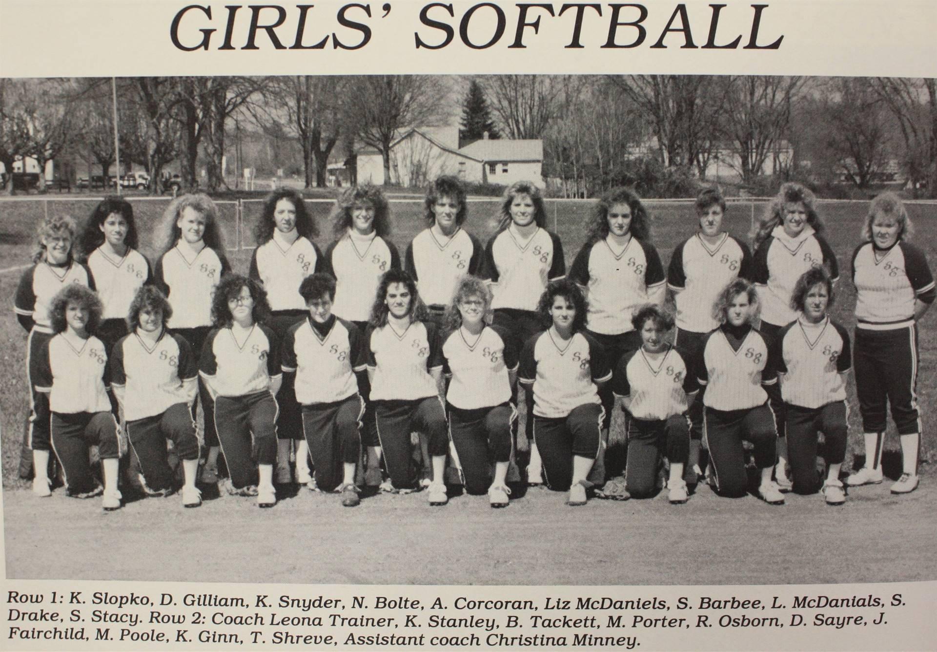 1990 Girls' Softball