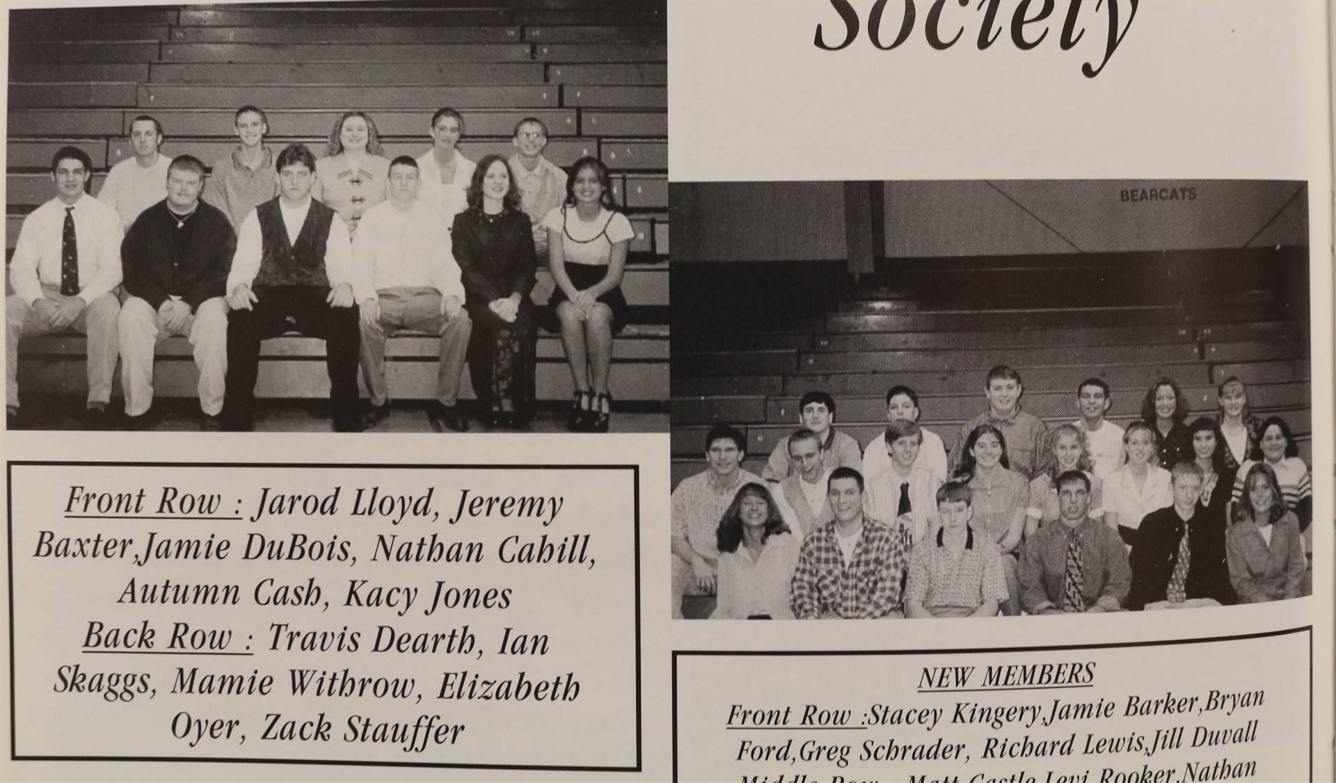 1998 National Honor Society